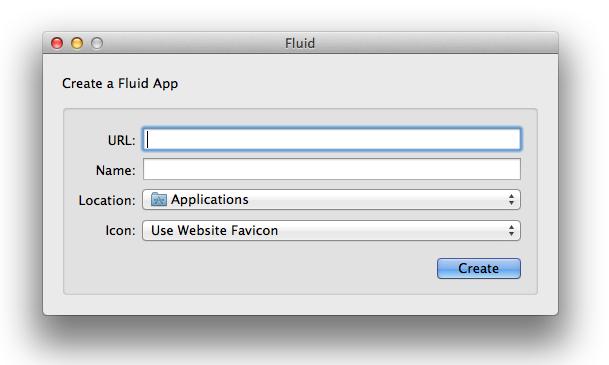 The Fluid app interface
